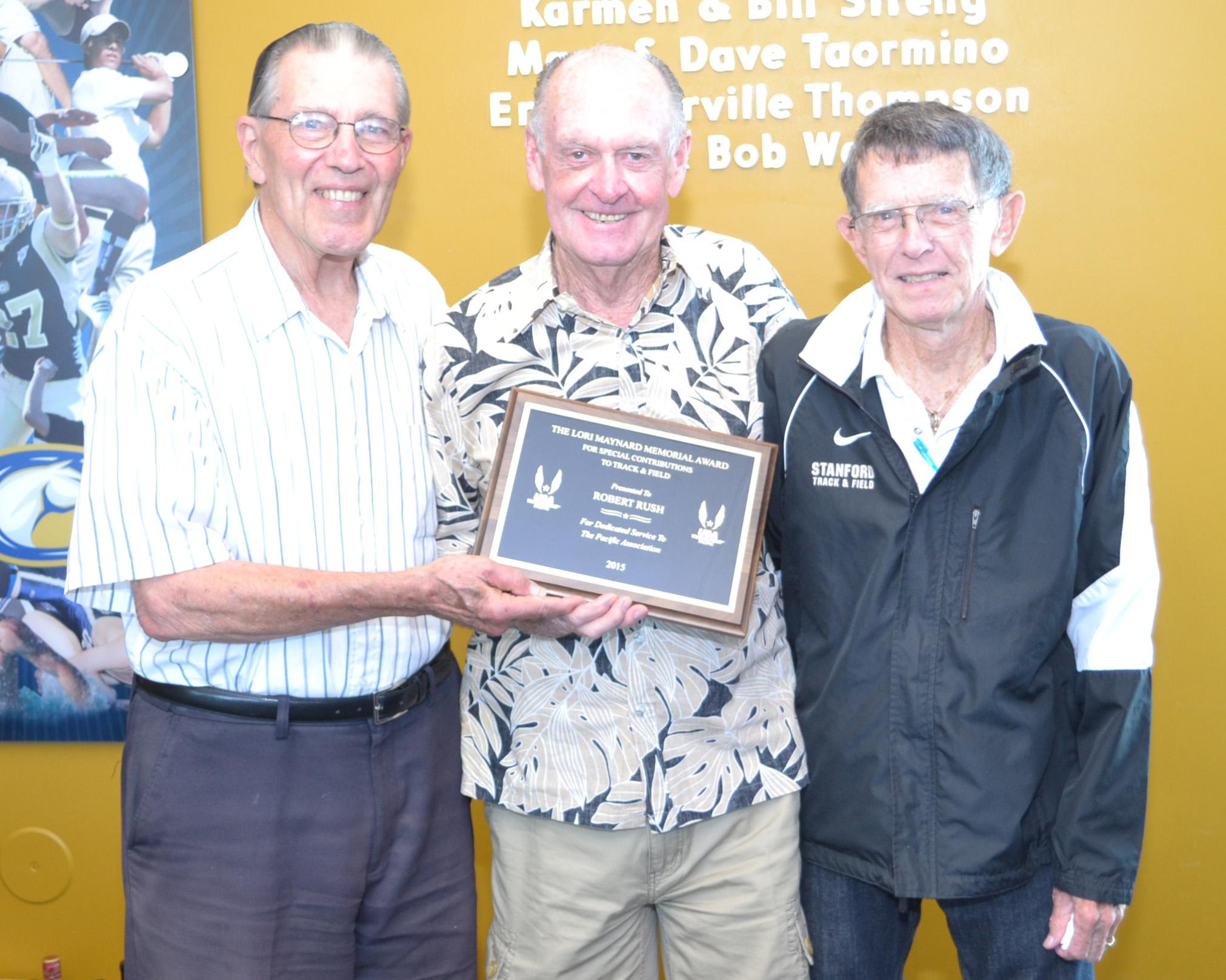Lori Maynard Special Recdognition Award.Bob Rush
