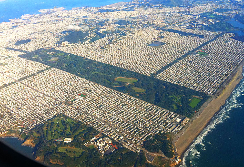 Aerial View of Golden Gate Park