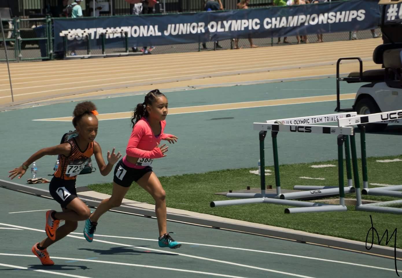 2016 JO Malia Mack 7-8 Girls 100m prelims