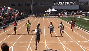 PAL girls 11-12 set a National and Meet Record in the 4x100.