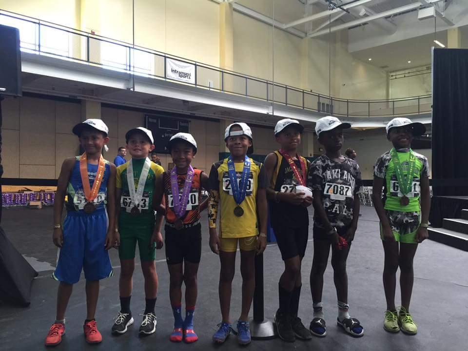 2016 JO 7-8 yrs. Boys Long Jump Medalist