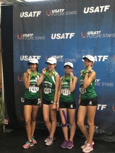 2016 JOs: Woodside Wildebeests Girls 13-14 5th in 4x800m Relay