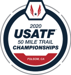2020 usatf national 50 mile trail championship logo