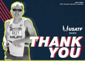 2020 Olympic Marathon qualifier Johathan Riley