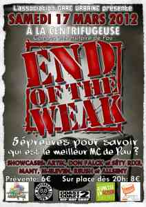 Affiche End Of the Weak Pau 2012