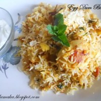 Egg Dum Biryani Step by Step