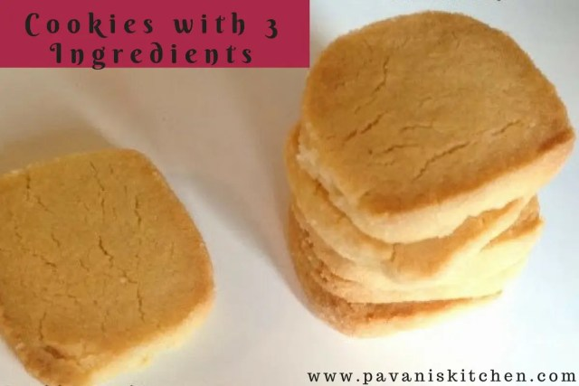 Cookies with 3 Ingredients