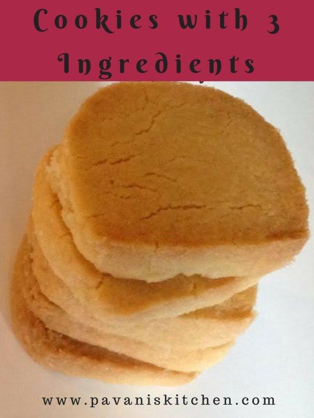 Cookies with 3 Ingredients