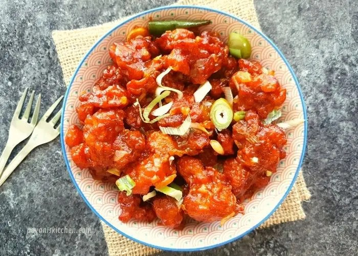 Gobi Manchurian Recipe Cauliflower Manchurian Pavanis Kitchen