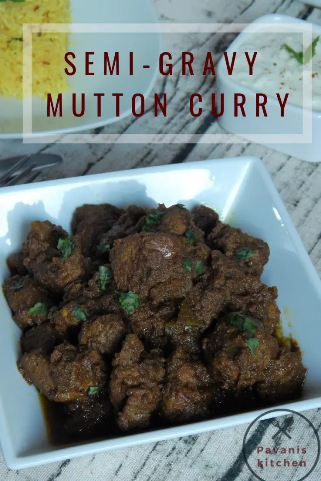 Semi-Gravy Mutton Curry