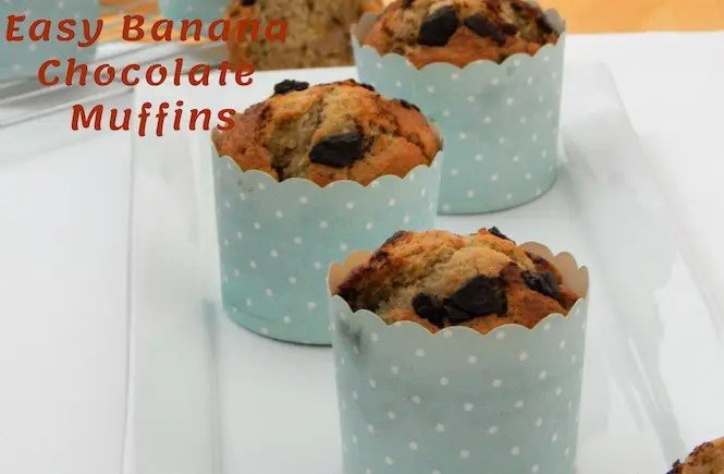 Easy Banana Chocolate Muffins Recipe