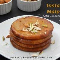Instant Malpua Recipe with Condensed Milk