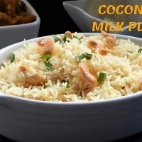 Coconut Milk Pulao | Coconut Rice Pulao