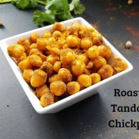 Roasted Tandoori Chickpeas Recipe | Pan Fried Chickpeas