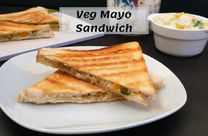 Veg Mayonnaise Sandwich Recipe |Easy Mayo Sandwich