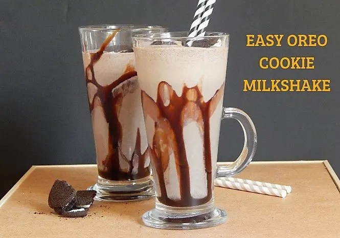 Easy Oreo Cookie Milkshake