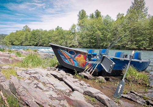 Pavati Guardian Drift Boat blue salmon skinned
