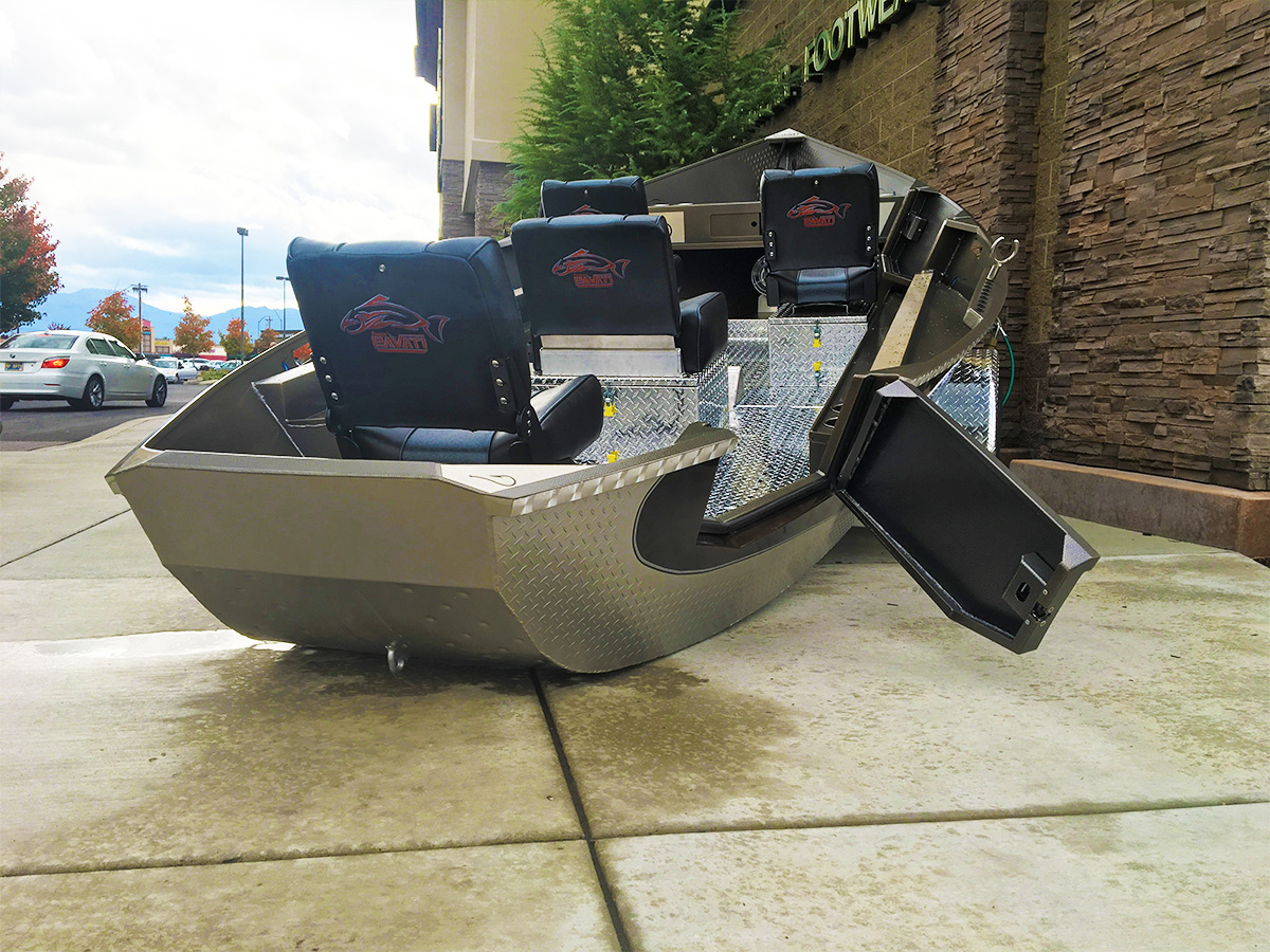Black 2017 Elite Guardian with Silver Diamond Plate by Pavati Marine For Sale at Sportsman's Warehouse in Medford, Oregon