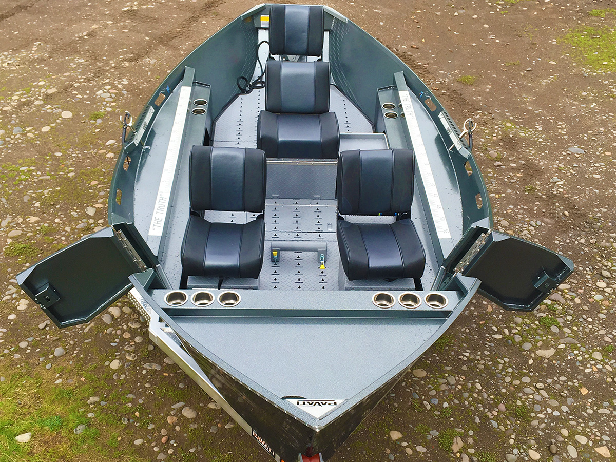Overhead Shot of a 2017 Olive Green Elite Warrior by Pavati Marine