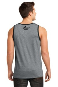 Clothing and Accessories by Pavati Marine - Gray Male Tank Top with Fish Logo - Back
