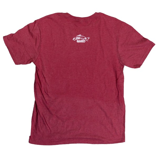 Clothing and Accessories by Pavati Marine - Fishing Lure on Red Ribbon Tee - Back