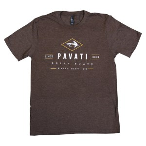 Clothing and Accessories by Pavati Marine - Modern Logo on Brown Ribbon Tee - Front