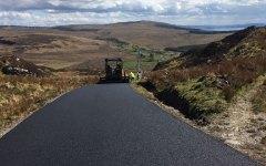 Sumitomo HA60,6m screed asphalt paver, resurfacing part of the Wild Atlantic Way