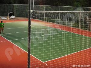 Construcción pista de voleibol