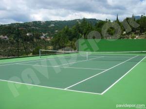 Construcción de pista de tenis
