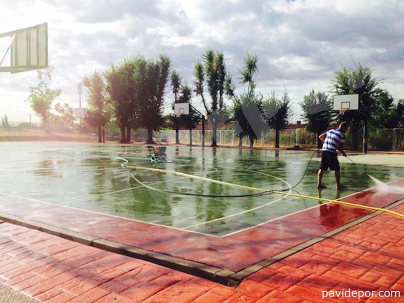 Rehabilitacion pista de baloncesto, Madrid 04