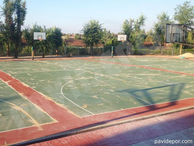 Rehabilitacion pista de baloncesto, Madrid 05