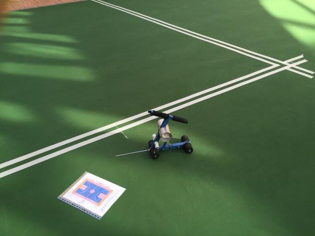 Pintado de líneas de juego para pistas polideportivas