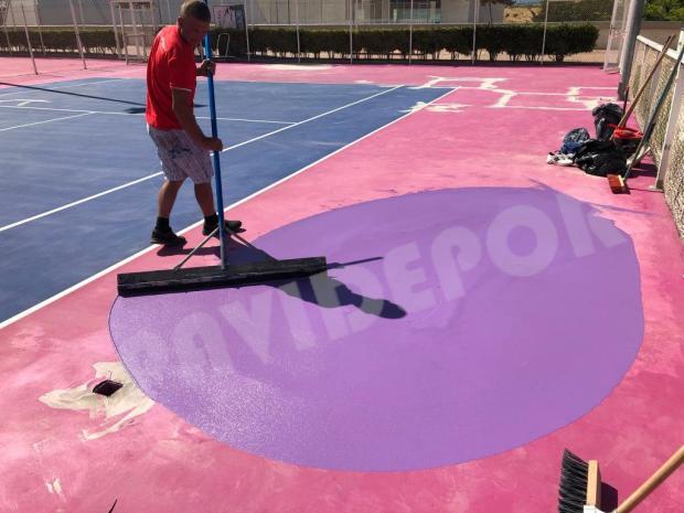 reparación charco tenis