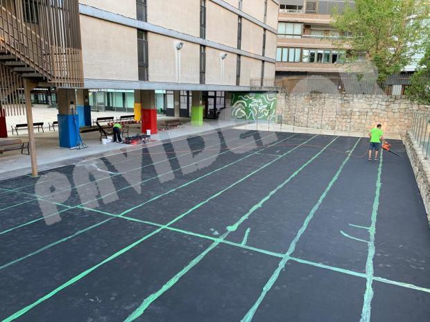 pavimento deportivo amortiguador