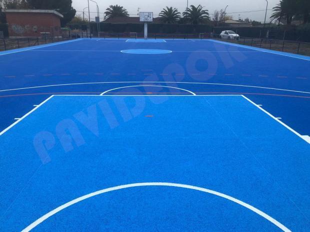 Construcción pista baloncesto