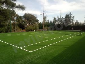 Césped pista tenis