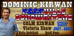 Dominic Kirwan & The Nashville Singer Songwriters at the Pavilion Theatre, Glasgow