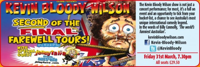 KEVIN BLOODY WILSON - CLICK FOR MORE INFO!