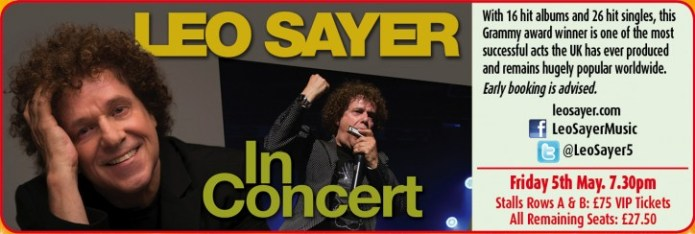 Leo Sayer – Live in Concert – 2017 - CLICK FOR MORE INFO!