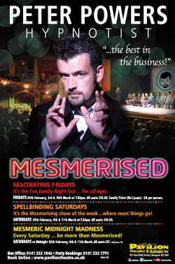 Peter Powers: Mesmerised at the Pavilion Theatre, Glasgow