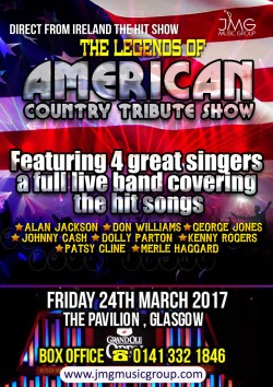 The Legends of American Country Show at the Pavilion Theatre, Glasgow
