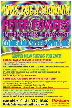 Peter Powers: Times Are A Changing at the Pavilion Theatre, Glasgow
