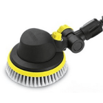 Spinning rotary head cleaner with bristles for cleaning cars and glass