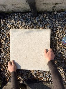 How to lay stepping-stones on gravel