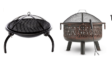 Fire pits can compliment any type of paving on a patio or garden