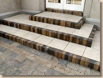 hard landscape features steps