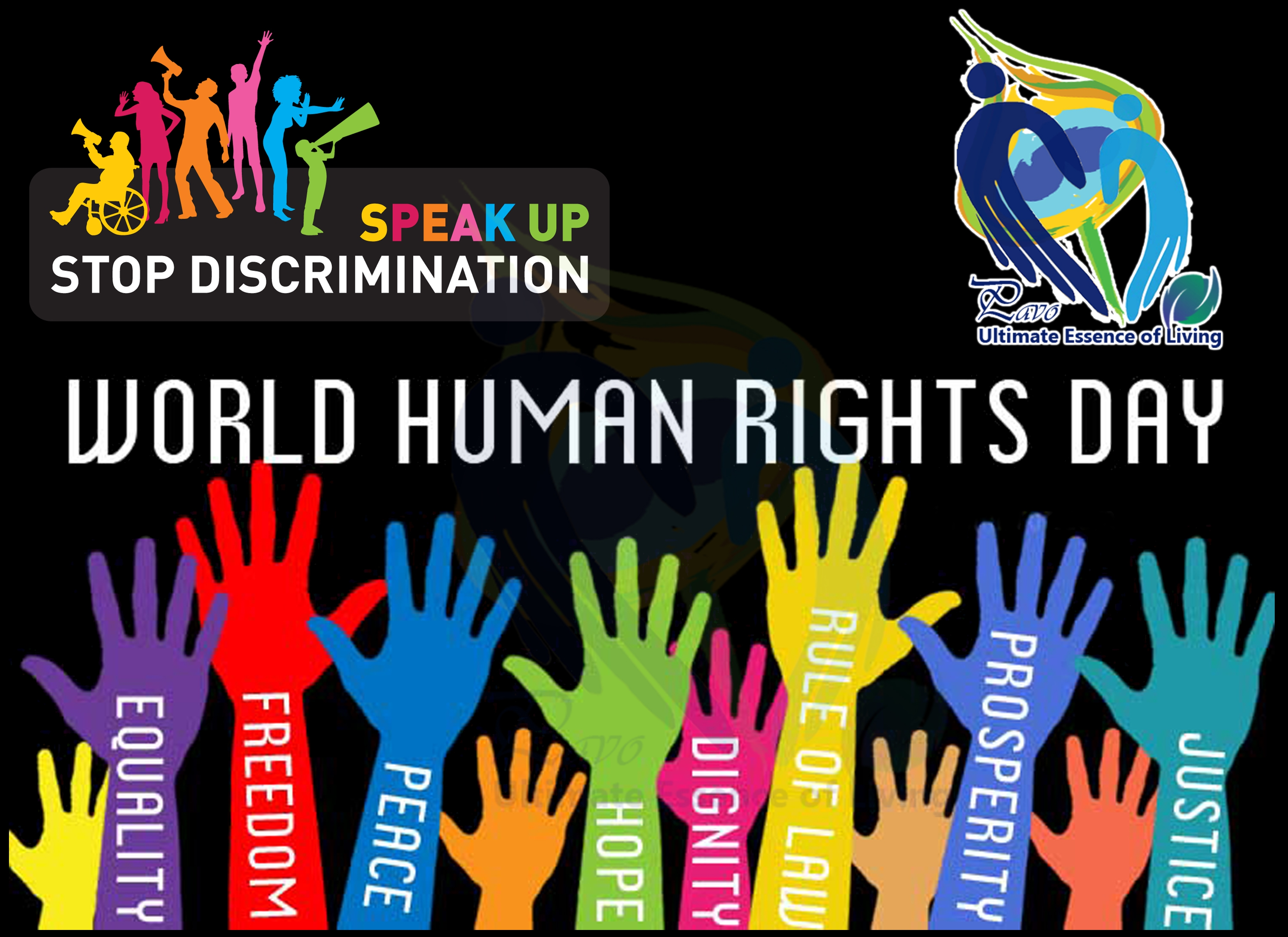 Banner Design of World Human Rights Day - Successfully Delivered Projects On-Time and On-Budget.