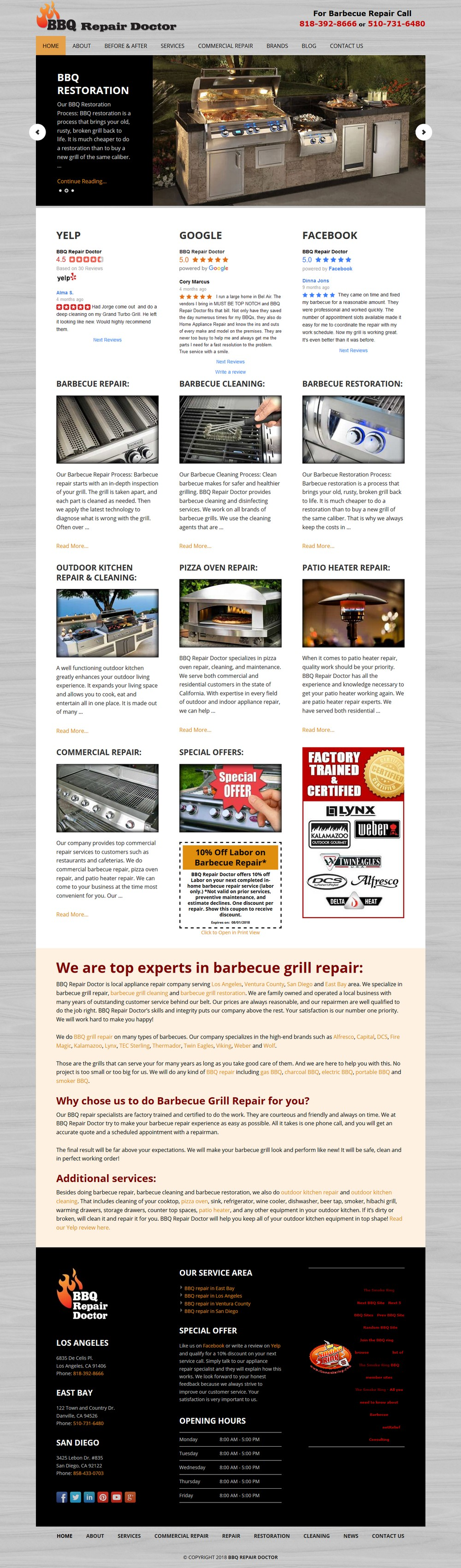 Barbecue Grill Repair - Successfully Delivered Projects On-Time and On-Budget. Improved Website Conversation Rate By 80% Against Existing Control.