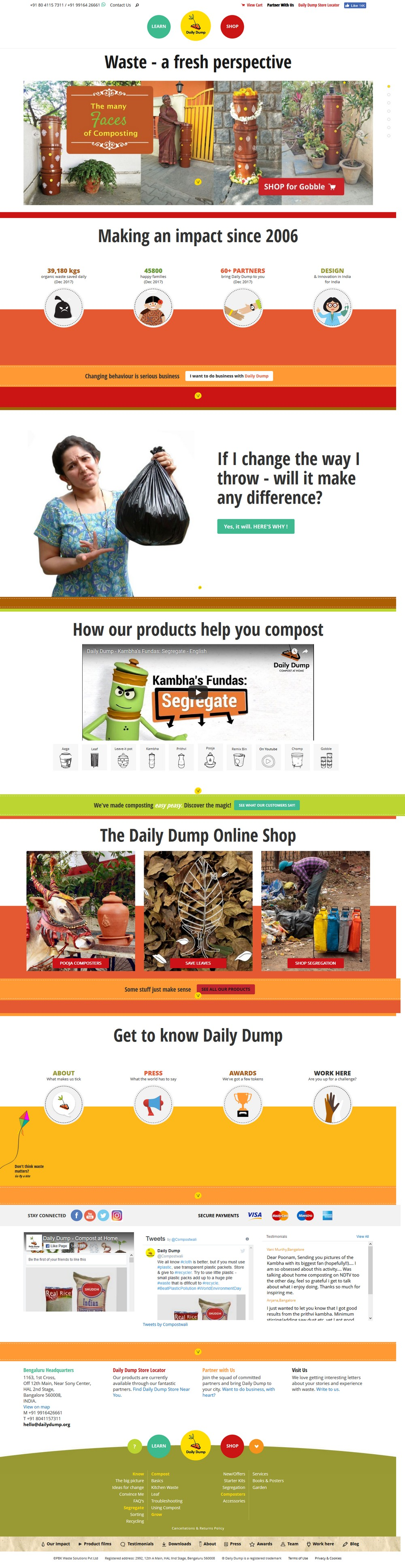 Daily Dump - Successfully Delivered Projects On-Time and On-Budget. Improved Website Conversation Rate By 80% Against Existing Control.
