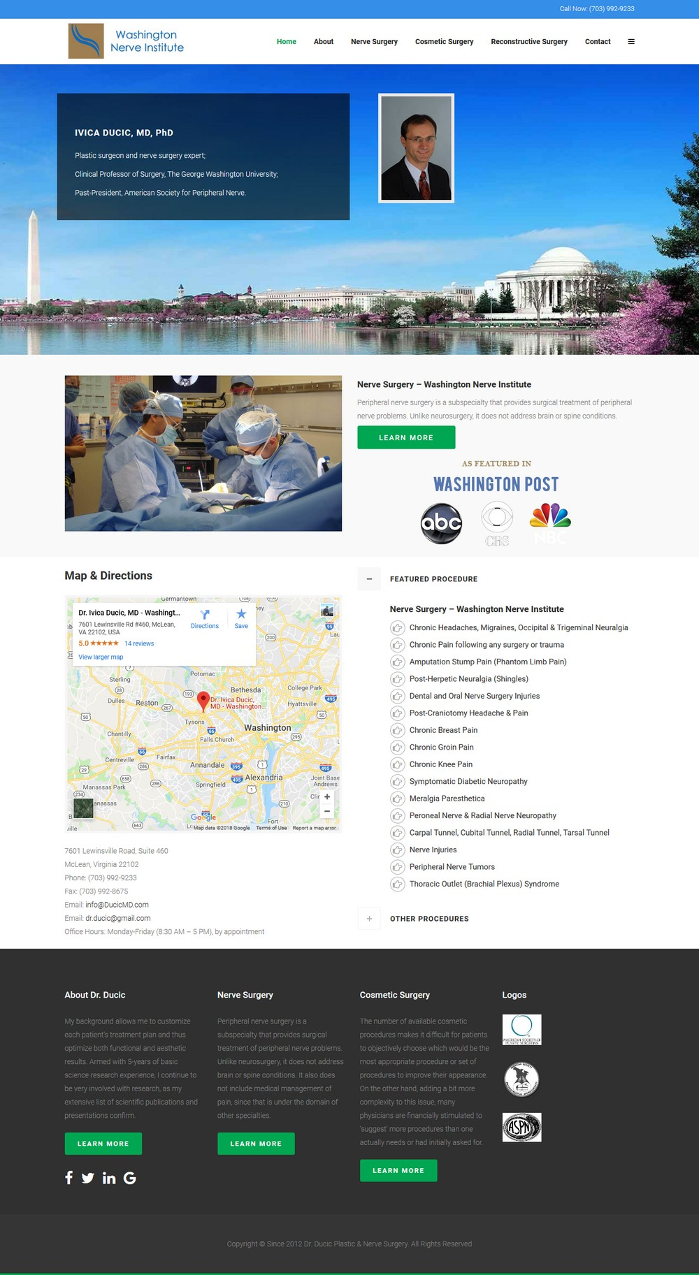 Dr. Ducic Plastic Surgery - Successfully Delivered Projects On-Time and On-Budget. Improved Website Conversation Rate By 80% Against Existing Control.